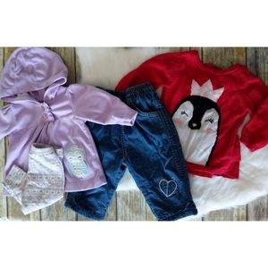 Baby girl winter lot, size 3-6 months